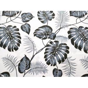 Szare liście na białym tle
