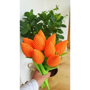 Tulipany pomarańczowe w...