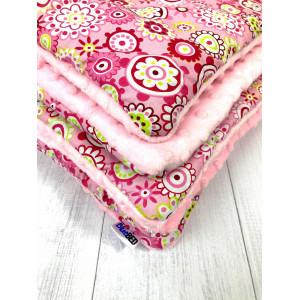 Kocyk + poduszka Różowe...