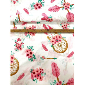 Bawełna Różowe łapacze